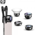 Apexel 5 in 1 Phone Camera Lens Kit Professional HD Fisheye Super Wide Angle Macro Lens (APL-HD5 )