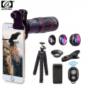 Apexel Multifunction Cellphone Lens Kit, with mobile holder, tripod and Remote Shutter for Smartphone( APL-T18XBJZ5)