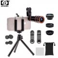 Apexel 4in1 Camera Lens Kit (telescope, fisheye,Wide Angle,Macro, Mini Tripod&Phone Holder) for mobile phone (APL-HS12XDG3ZJ)