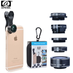 Apexel 5in1 camera Lens Kit for Hd Mobile Phone lens (APL-DG5H)