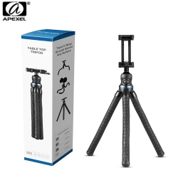 Apexel APL-JJ05 Flexible Table Top Tripod with Ballhead & Smartphone Mount