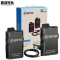 BOYA BY-WM4 Mark II Wireless Microphone System for Camera Sony Canon Nikon Smartphone recording Video an interview