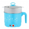 Delly 2 Layers Multi Function Heater Steamer Mini Cooker 1.8L Stainless Steel -Blue SSFH-B