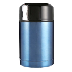 Delly Korea 1000ml Thermos For Food With Containers Stainless Steel Vacuum Lunch Box Thermos For Soup Rice Porridge BPA-Free Blue LBC-B