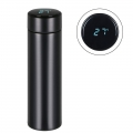 Delly Stainless Steel Vacuum Bottle for Hot Cold water with Digital LED Temperature Black DTB-B