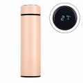 Delly Stainless Steel Vacuum Bottle for Hot Cold water with Digital LED Temperature Pink DTB-P