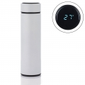 Delly Stainless Steel Vacuum Bottle for Hot Cold water with Digital LED Temperature White DTB-W