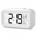 DELLY LED Digital Clock Time With sensor light , Calendar & Thermometer Alarm - White*