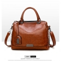 Delly Fashion Women Bag Leather Handbag Luxury Ladies Shoulder Beg Brown – LHL-BR