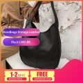 Delly New Luxury Women Bags Designers Handbags Vintage Leather Handbag Ladies Hand Bag Sling Bag Black LWD-BK