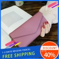 Delly Women Purse Fashion Korean Leather Wallet Long style Purse Zip Card coin Holder – Pink LWP-PK
