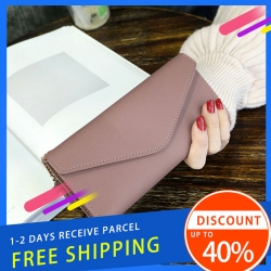 Delly Women Purse Fashion Korean Leather Wallet Long style Purse Zip Card coin Holder – Brown LWP-BR