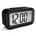 DELLY LED Digital Clock Time With sensor light , Calendar & Thermometer Alarm - Black ldc