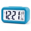 DELLY LED Digital Clock Time With sensor light , Calendar & Thermometer Alarm - Blue
