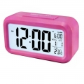 DELLY LED Digital Clock Time With sensor light Calendar & Thermometer Alarm - Pink ldc