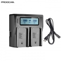 Proocam Camera Battery LCD USB Dual Charger for NP-970 NP-550 NP-570 NP-770 sony led battery