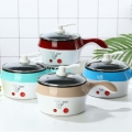 Delly Life Electric NonStick Ceramic/Marble Frying Pan Rice Multi Mini Rice electric frying pan noodle pot-Blue LEN-B*