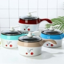 Delly Life Electric NonStick Ceramic/Marble Frying Pan Rice Multi Mini Rice electric frying pan noodle pot-Red LEN-R