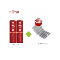 FUJITSU LITE 1000mah 2pcs Rechargeable Battery 3000 cycle time - AA size (Made in Japan)