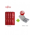 FUJITSU LITE 1000mah 4pcs Rechargeable Battery 3000 cycle time - AA size (Made in Japan)