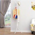 Delly Solid Metal Coat Hat Clothing Display Stand Rack Assembled Living Room Multi Hooks Hanging Clothes White HCD-039W