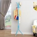 Delly Solid Metal Coat Hat Clothing Display Stand Rack Assembled Living Room Multi Hooks Hanging Clothes Blue HCD-039BL