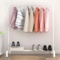 Delly Floor clothing Rack Portable 110 cm Design Bedroom Hanger Household Creative White HCR-110W