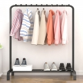 Delly Floor clothing Rack Portable 110 cm Design Bedroom Hanger Household Creative Black HCR-110B