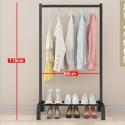 Delly Floor clothing Rack Portable 60 cm Design Bedroom Hanger Household Creative Black HCR-60B