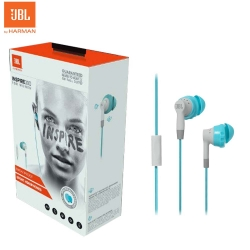 JBL Inspire 300 In-Ear Sport Headphones Blue Gray by Harman US Sweat proof for Smartphone