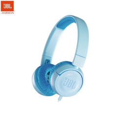 JBL JR 300 Kids On-Ear Wire Headphones with Safe Sound Technology (Blue)