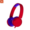 JBL JR 300 Kids On-Ear Wire Headphones with Safe Sound Technology (Red)