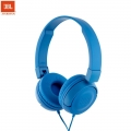 JBL T450 Pure Bass Sound with 1-Button Remote with Microphone On-Ear Headphones (Blue)
