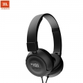 JBL T450 Pure Bass Sound with 1-Button Remote with Microphone On-Ear Headphones (Black)