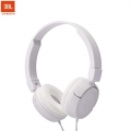 JBL T450 Pure Bass Sound with 1-Button Remote with Microphone On-Ear Headphones (White)