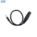 JJC Cable-XLR2MSM 3-pin XLR Female to 3.5mm Input Cable Adapter Connector for Microphone
