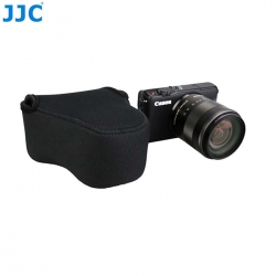 JJC OC-C2BK Black Neoprene Mirrorless Camera Case for Canon M2 M3 M10