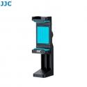 JJC SPS-1A Blue Smart Phone Stand holder 56-105mm Clip with Hot Shoe Led Light