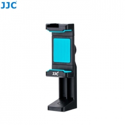 JJC SPS-1A Blue Smart Phone Stand holder 56-105mm Clip with Hot Shoe Led Light