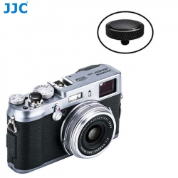 JJC SRB-BK Black Convex Metal Soft Release Button for Fujifilm Leica Cameras (Black)