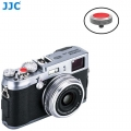 JJC SRB-GR Red Convex Metal Soft Release Button for Fujifilm Leica Cameras (Gray Red)