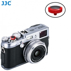 JJC SRB-R Black Convex Metal Soft Release Button for Fujifilm Leica Cameras (Red Black)