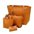 Delly Fashion Women Bag Leather Handbag wallet pouch Luxury Ladies Shoulder bag LRB-4B Brown