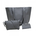 Delly Fashion Women Bag Leather Handbag wallet pouch Luxury Ladies Shoulder bag LRB-4G Gray