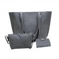 Delly Fashion Women Bag Leather Handbag wallet pouch Luxury Ladies Shoulder bag LRB-4G Gray