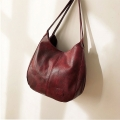Delly New Luxury Women Bags Designers Handbags Vintage Leather Handbag Ladies Hand Bag Sling Bag Red LWD-RD