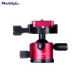 Manbily C-10 Heavy duty Mini Ball Head Ballhead Tabletop - Red