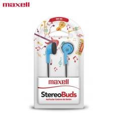 Maxell EB-95 Earphone Stereo Earbuds for Samsung, Oppo, Laptop -Blue Black