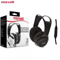 Maxell ST-2000 Studio La Full Size Headphone with Microphone Black for Laptop PC Mobile Phone
