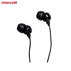 Maxell In-Ear Buds with Built-in Microphone Black for Mobile Phone